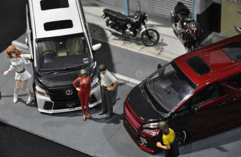 小规模街道赛车模型 图库摄影