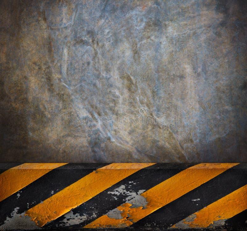 小路水泥墙壁背景 免版税库存图片