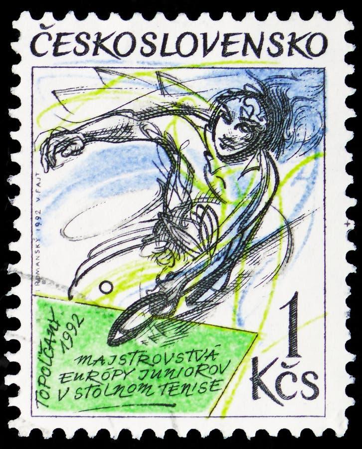 小辈欧洲台球冠军,serie,大约1992年 免版税库存照片
