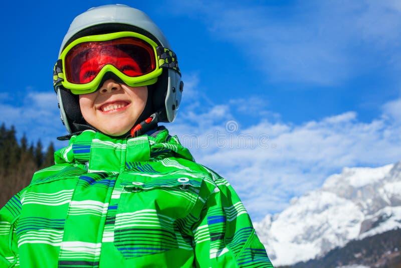 小辈滑雪者的照片 图库摄影