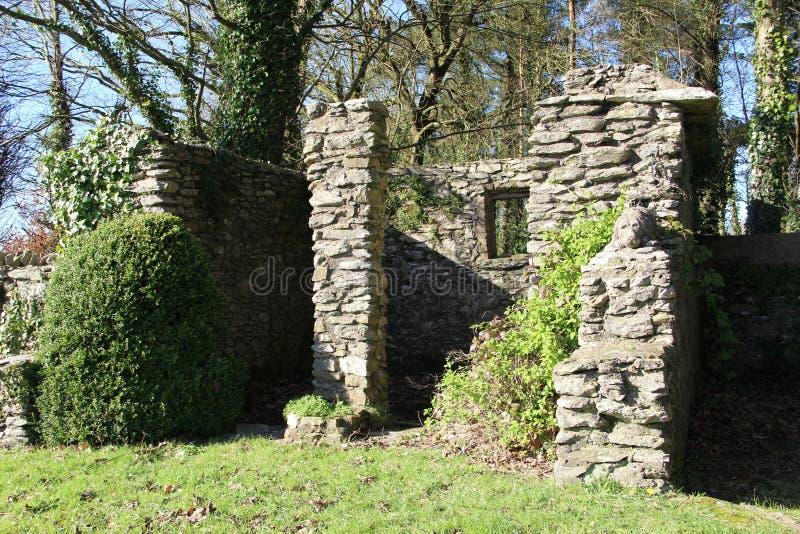 小遗弃大厦在爱尔兰 库存照片