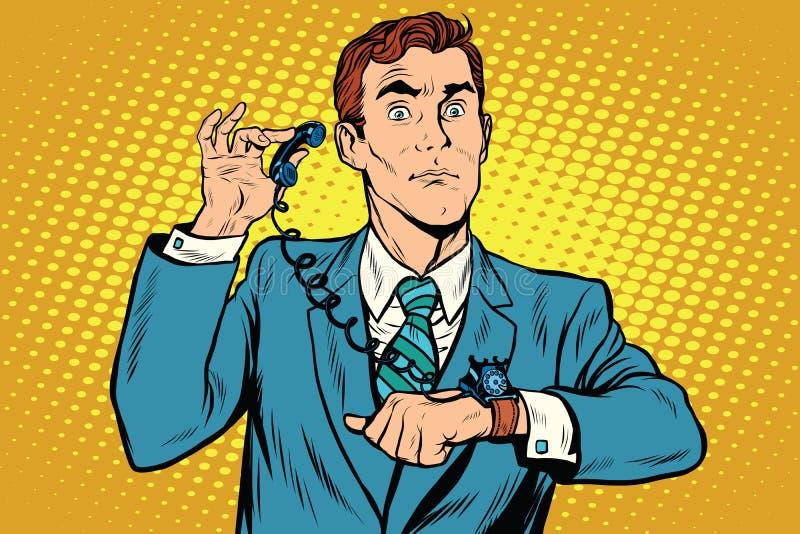 小配件手表电话 库存例证
