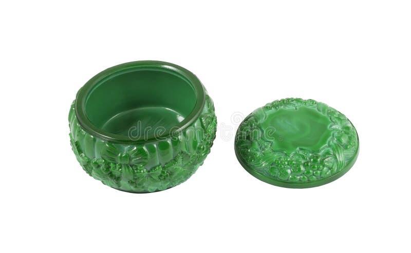 小配件箱的绿沸铜 免版税图库摄影