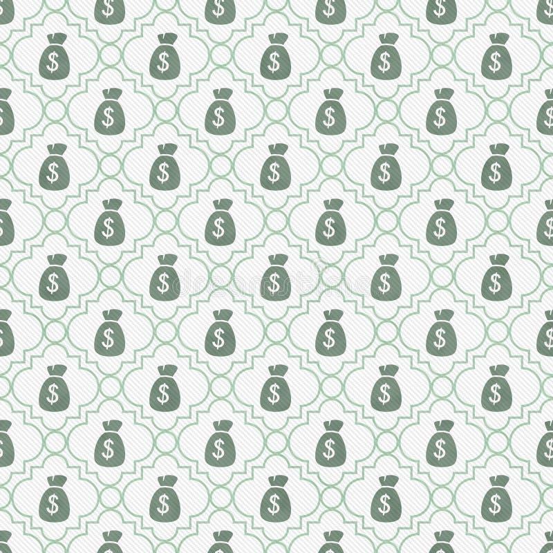 小野鸭和白色金钱袋子重复样式背景 向量例证
