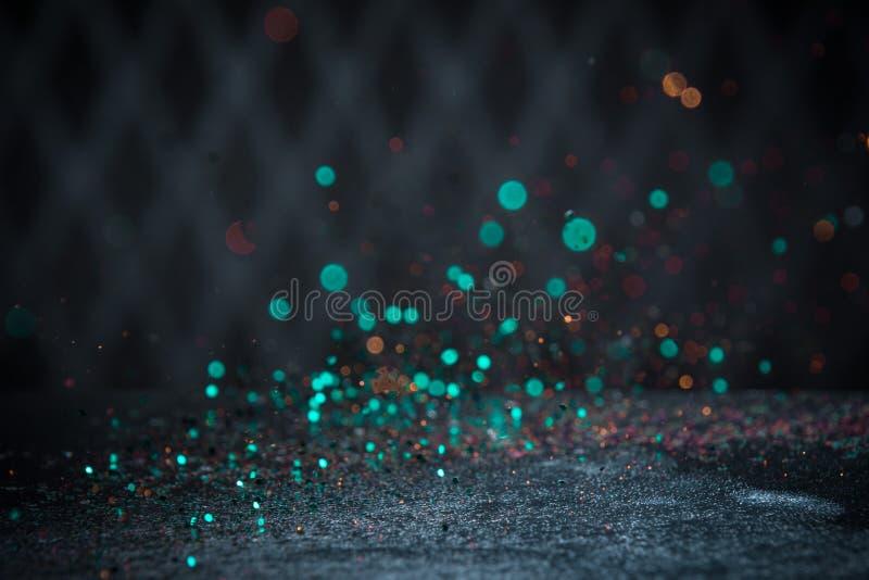 小野鸭闪烁点燃背景 与Selec的葡萄酒闪闪发光Bokeh 库存图片