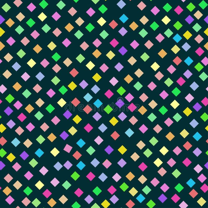 小金刚石的无缝的明亮的彩虹样式 皇族释放例证
