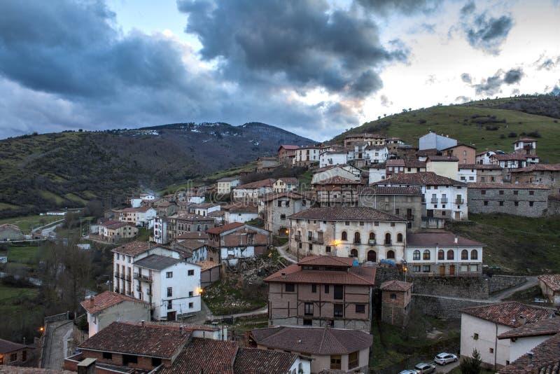小镇在西班牙 库存照片