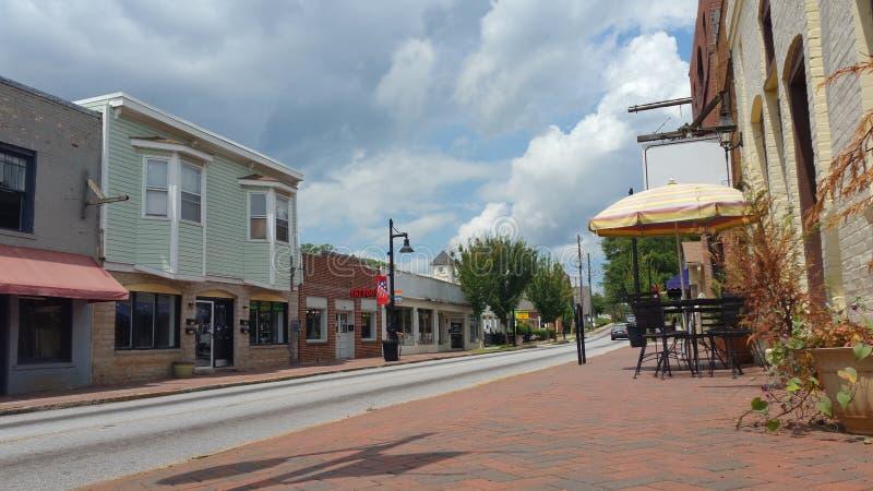 小镇街道美国 免版税库存图片