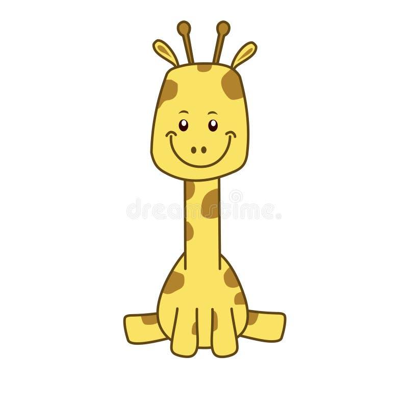 小长颈鹿 E 非洲动物例证 库存例证
