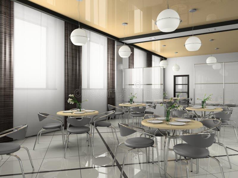 小餐馆内部现代 向量例证