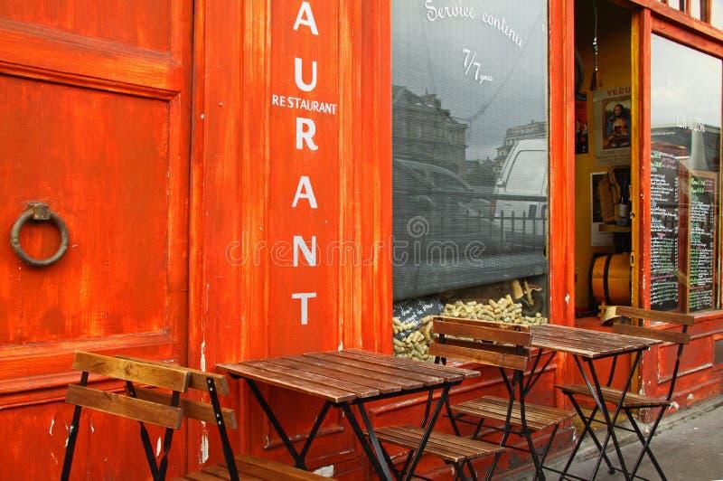 小餐馆法语 免版税库存图片