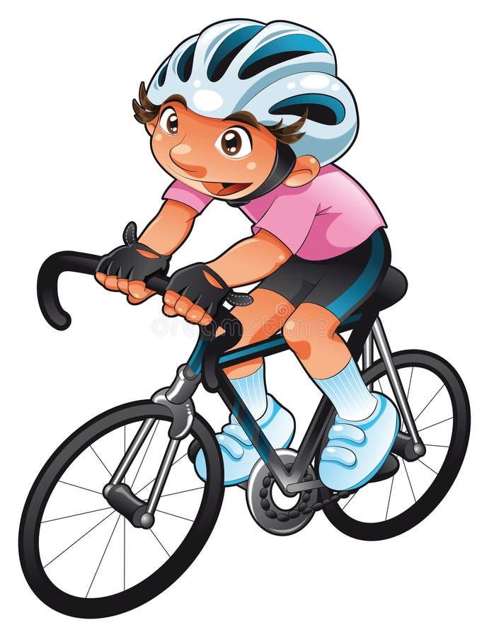小骑自行车者 向量例证
