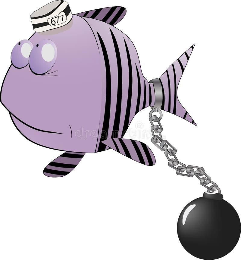 小鱼的囚犯 皇族释放例证