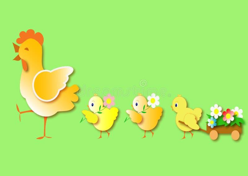 小鸡复活节例证 皇族释放例证