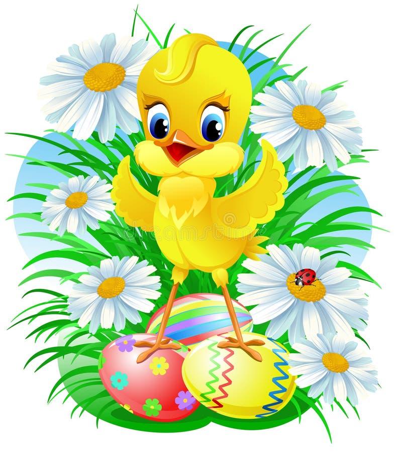 小鸡复活节 皇族释放例证