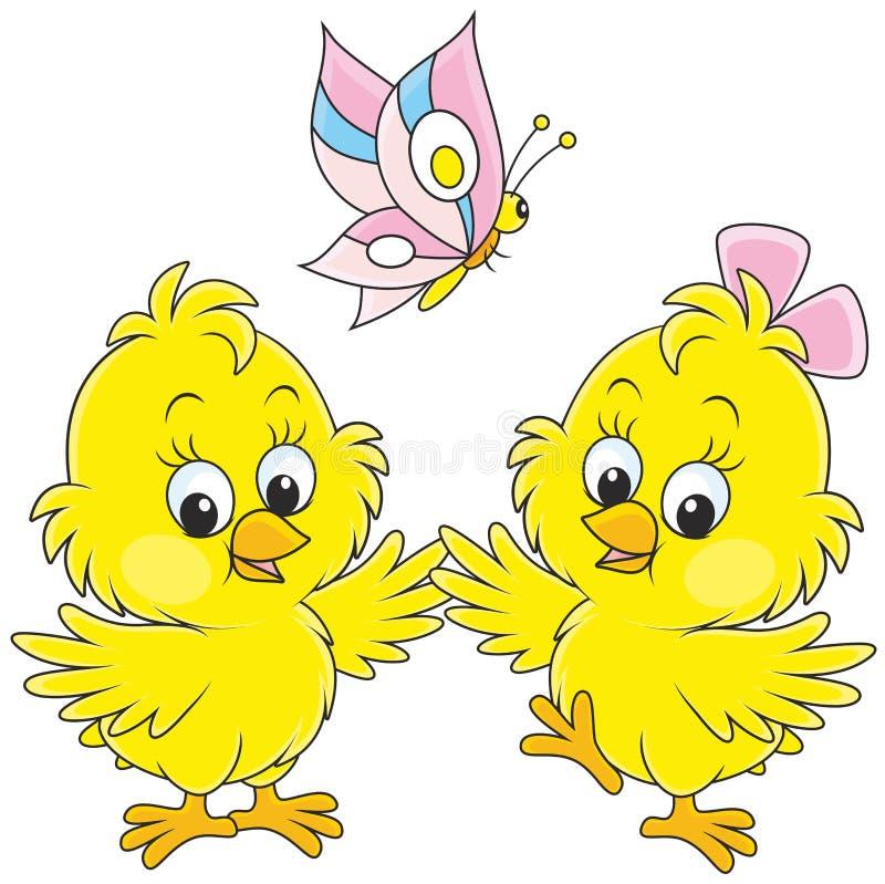 小鸡复活节草查出的白色 向量例证