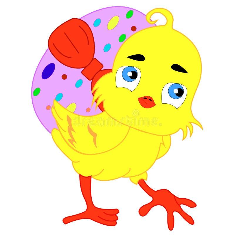 小鸡复活节 向量例证