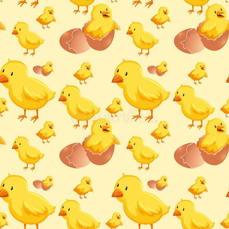 小鸡无缝的孵化用蛋 向量例证