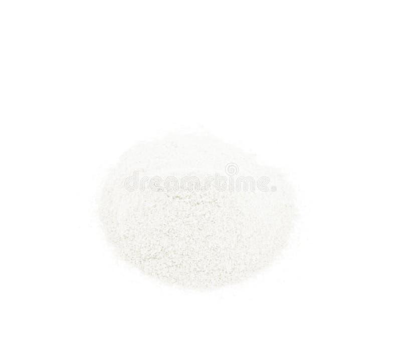 小麦面粉被隔绝的堆 免版税库存照片