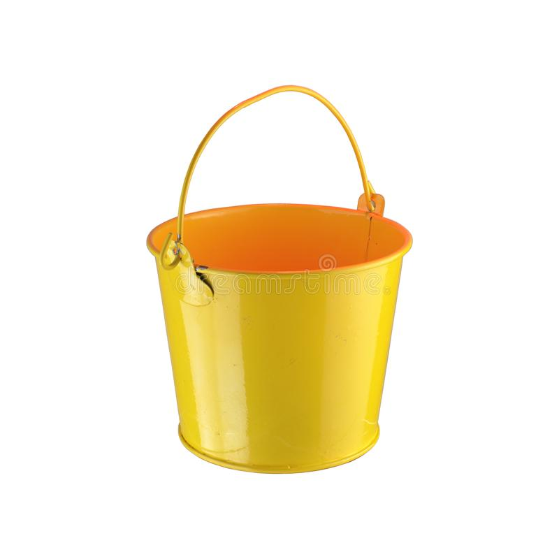 小黄色桶 库存图片