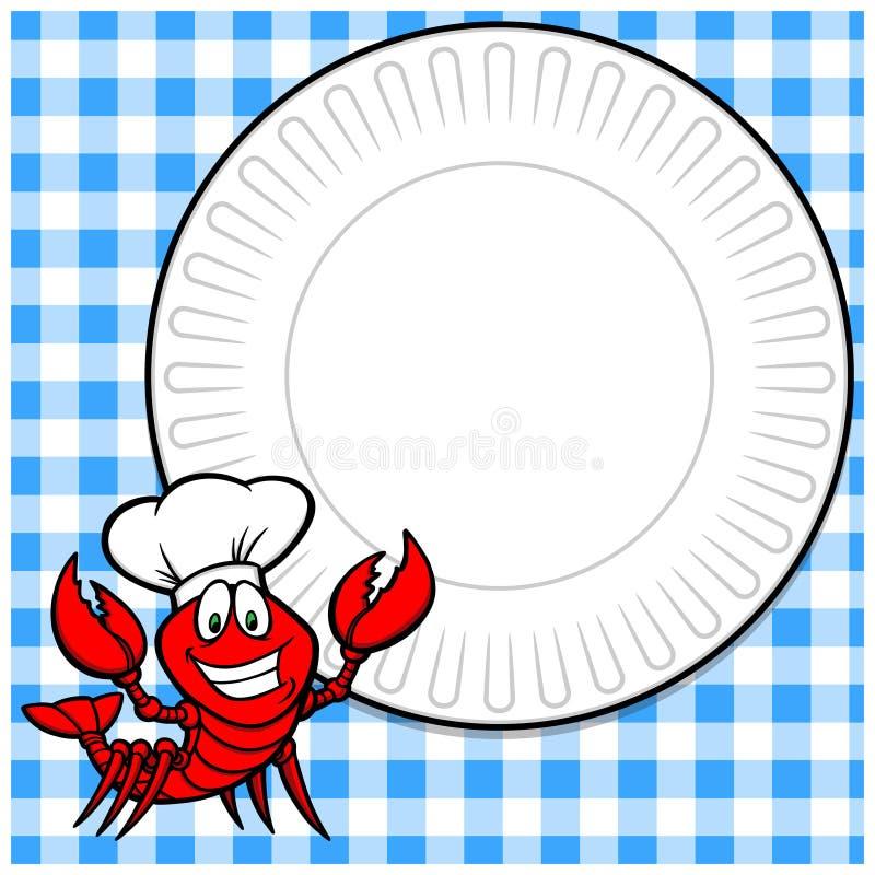 小龙虾晚饭邀请 向量例证