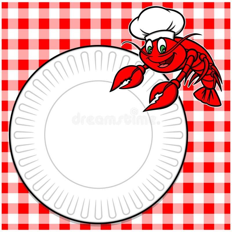 小龙虾野餐 库存例证