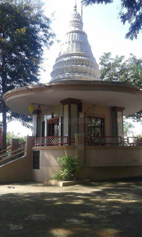 小,但是美丽的印度寺庙在sangli城市(印度) 免版税库存图片
