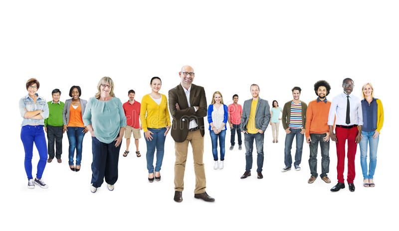 小组不同种族的不同的五颜六色的人民 库存图片