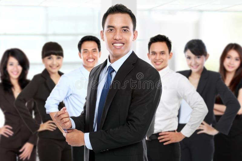 小组亚裔年轻买卖人 免版税库存图片