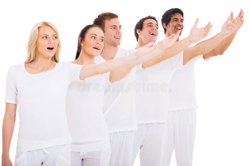 小组年轻人歌手 免版税库存照片