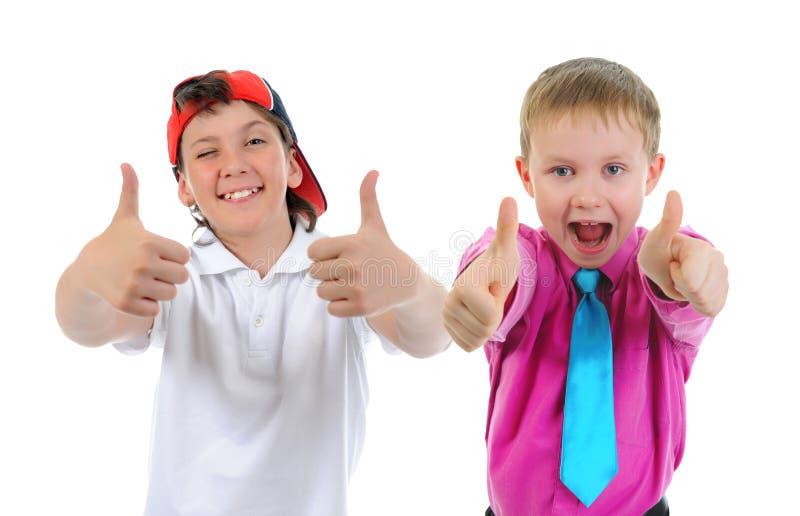 小组儿童摆在 免版税图库摄影