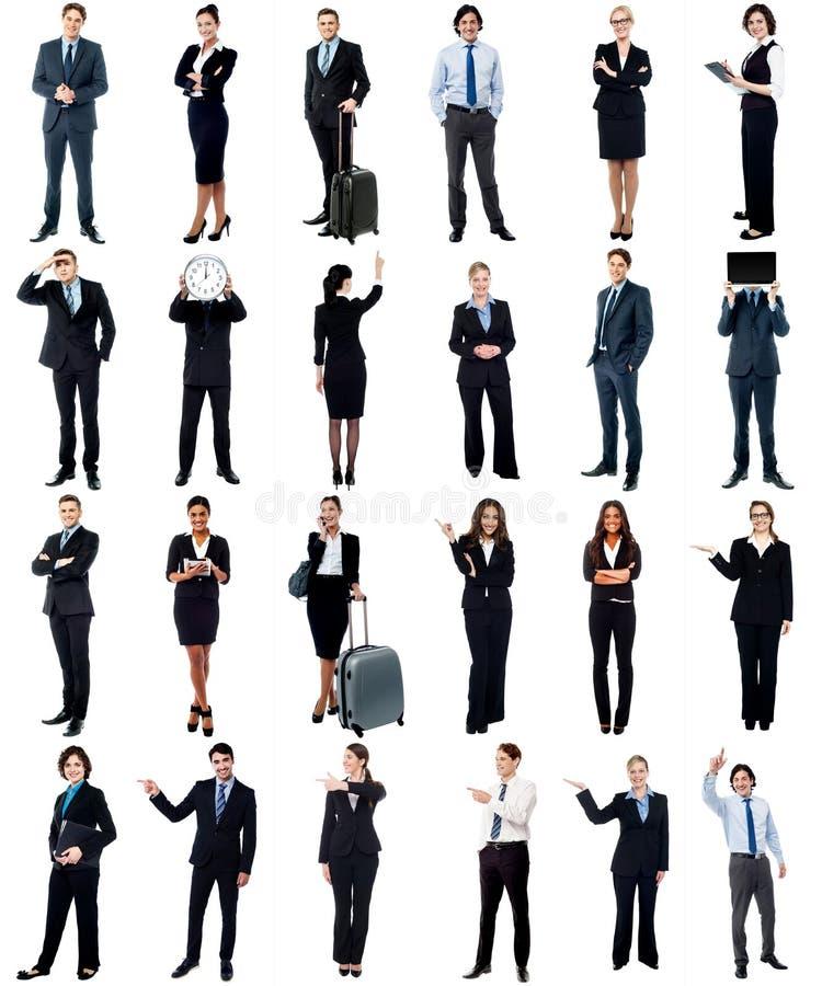 小组商人,拼贴画概念。 免版税库存图片