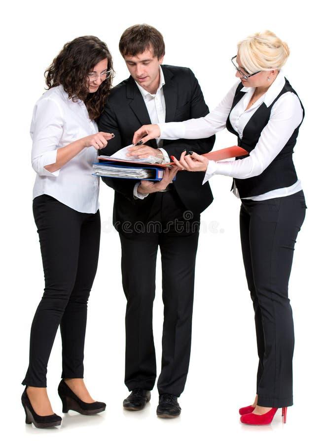 小组商人 库存图片