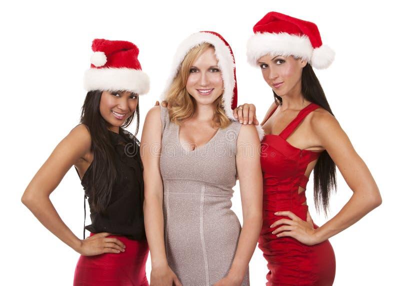 小组圣诞节妇女 免版税库存照片