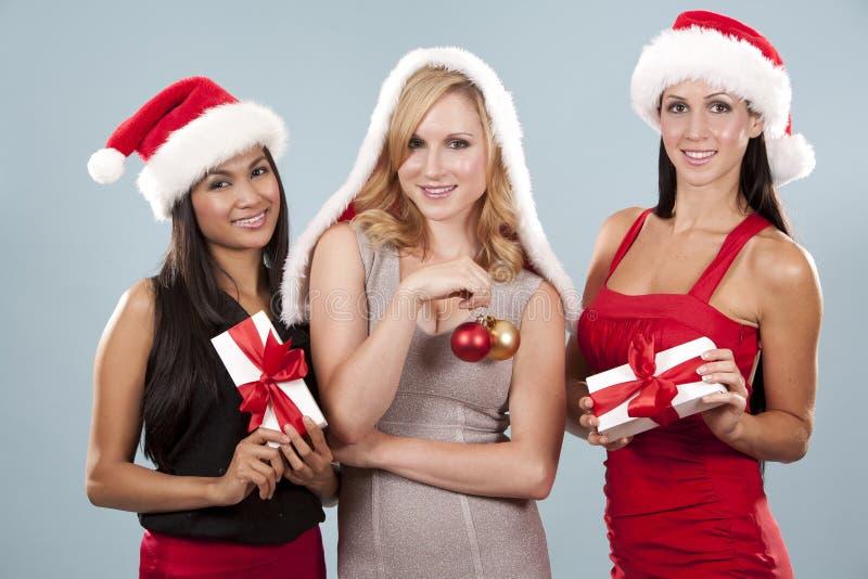 小组圣诞节妇女 库存照片