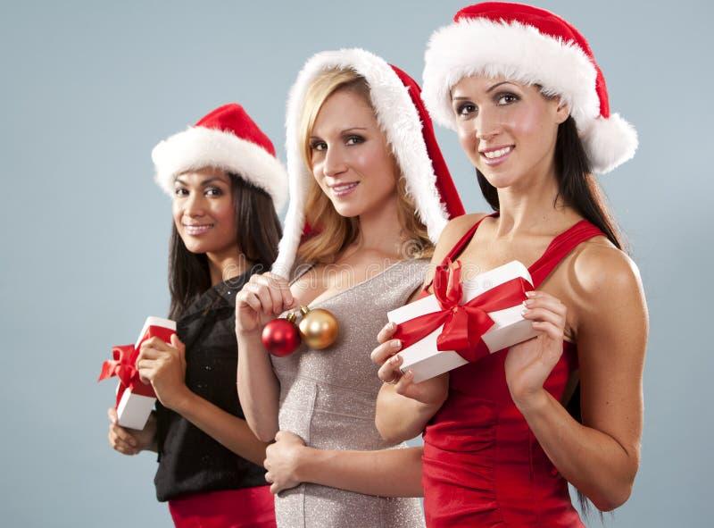 小组圣诞节妇女 库存图片