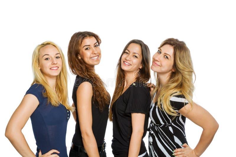 小组女孩站立 图库摄影