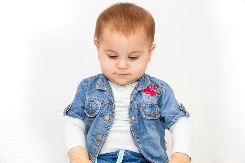 小年轻女婴要吃 免版税库存照片