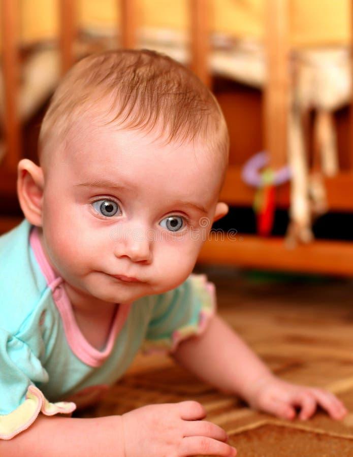 小婴孩的纵向 免版税库存图片