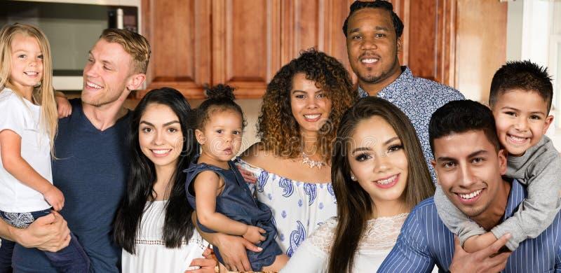 小组家庭 库存图片