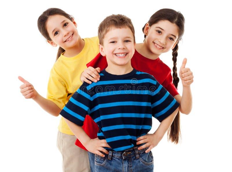 小组愉快的孩子 免版税库存图片
