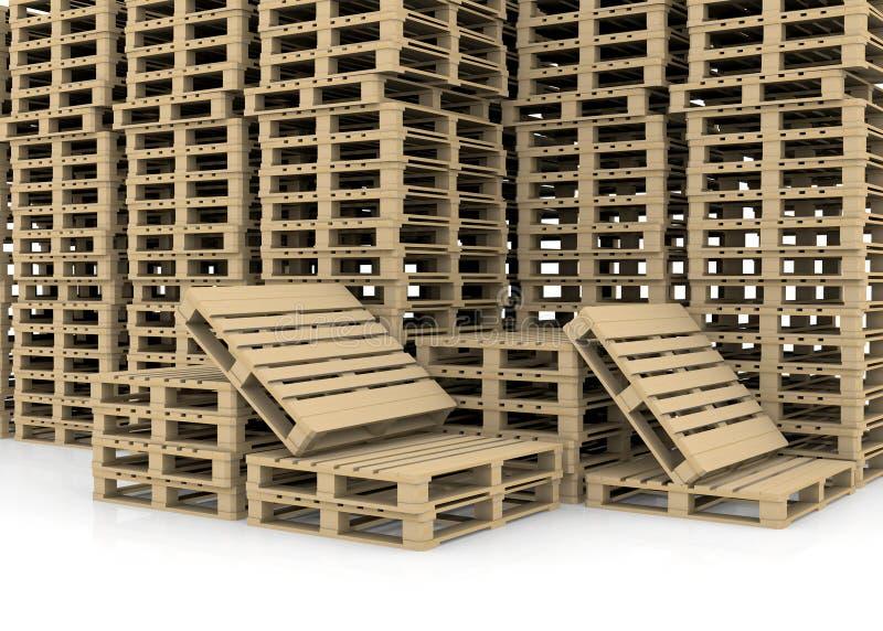小组木板台 向量例证