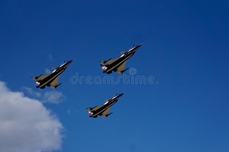 小组特技飞行航空器 库存照片