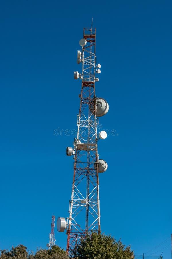小组电信塔在摩洛哥 库存图片