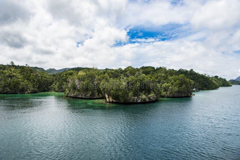 小贫瘠白垩海岛,印度尼西亚 免版税库存图片