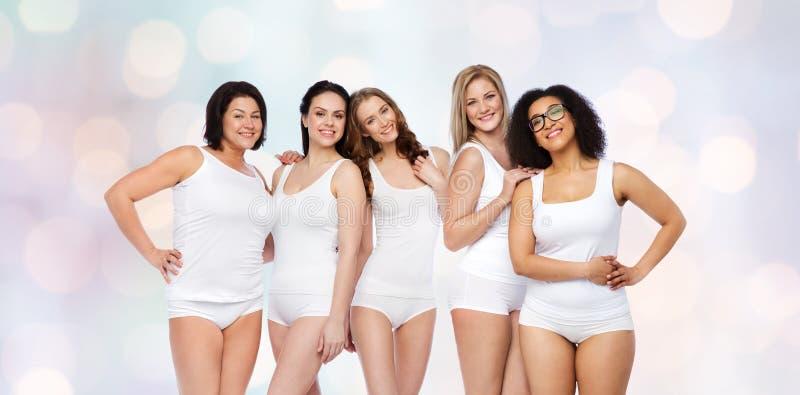 Download 小组白色内衣的愉快的不同的妇女 库存照片. 图片 包括有 beautifuler, 许多, 适应, 概念 - 72352060