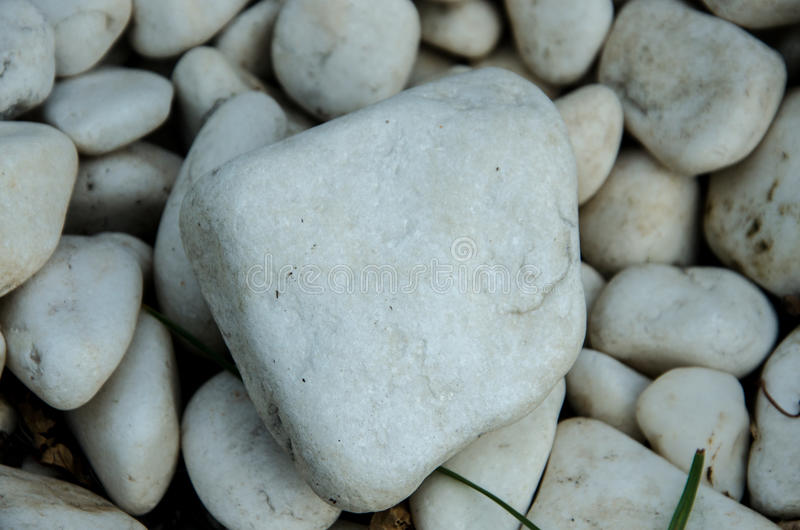 小组白色石头 免版税库存照片