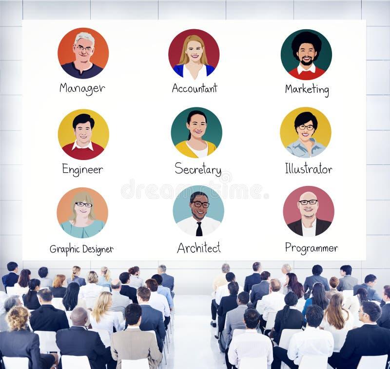 小组研讨会的商人 库存例证