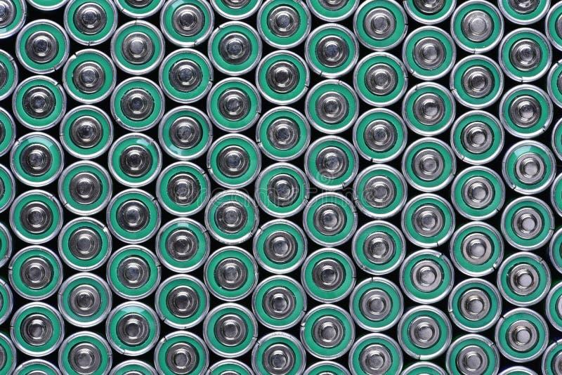 小组碱性电池 免版税图库摄影