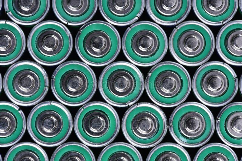 小组碱性电池 库存照片